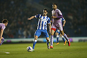 Brighton striker, Sam Baldock (9) during the Sky Bet Championship match between Brighton and Hove Albion and Reading at the American Express Community Stadium, Brighton and Hove, England on 15 March 2016.
