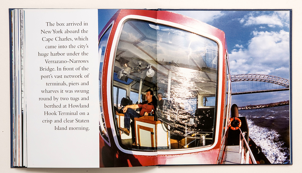New York Harbour.<br /> From the book &quot;Around the World in 40 Feet&quot;, commissioned by Nippon Yusen Kaisha, Japan. A 125,000 km epic about travel, trade and interconnected cultures, following a shipping container as it works its way across six continents.