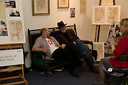 GAVIN TURK; RICHARD STRANGE, Preview evening for the London Art Fair. Business Design Centre. Islington. London. 13 January 2009.  *** Local Caption *** -DO NOT ARCHIVE -Copyright Photograph by Dafydd Jones. 248 Clapham Rd. London SW9 0PZ. Tel 0207 820 0771. www.dafjones.com<br /> GAVIN TURK; RICHARD STRANGE, Preview evening for the London Art Fair. Business Design Centre. Islington. London. 13 January 2009.