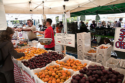 Regional farmers bring a huge variety of produce to the public market at San Francisco's Ferry Building.