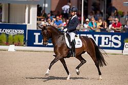 Veeze Bart, NED, Imagine<br /> World Championship Young Dressage Horses - Ermelo 2019<br /> © Hippo Foto - Dirk Caremans<br /> Veeze Bart, NED, Imagine