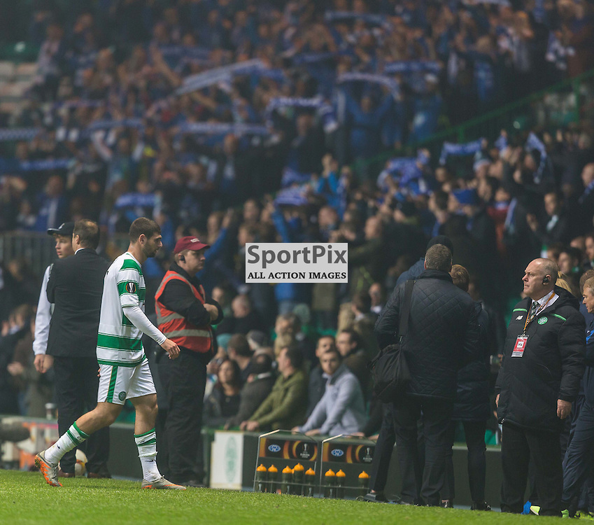 Nadir Cifcti walks off after the UEFA Europa League group stage match between Celtic and Molde FK (c) ROSS EAGLESHAM | Sportpix.co.uk