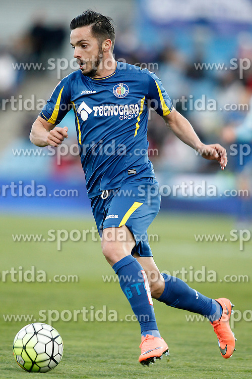 27.02.2016, Estadio Balaidos, Vigo, ESP, Primera Division, Getafe CF vs RC Celta, 26. Runde, im Bild Getafe's Pablo Sarabia // during the Spanish Primera Division 26th round match between Getafe CF and RC Celta at the Estadio Balaidos in Vigo, Spain on 2016/02/27. EXPA Pictures &copy; 2016, PhotoCredit: EXPA/ Alterphotos/ Acero<br /> <br /> *****ATTENTION - OUT of ESP, SUI*****