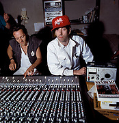 Big Audio Dynamite - Joe Strummer - Don Letts - Mick Jones at Trident Studios - 1986