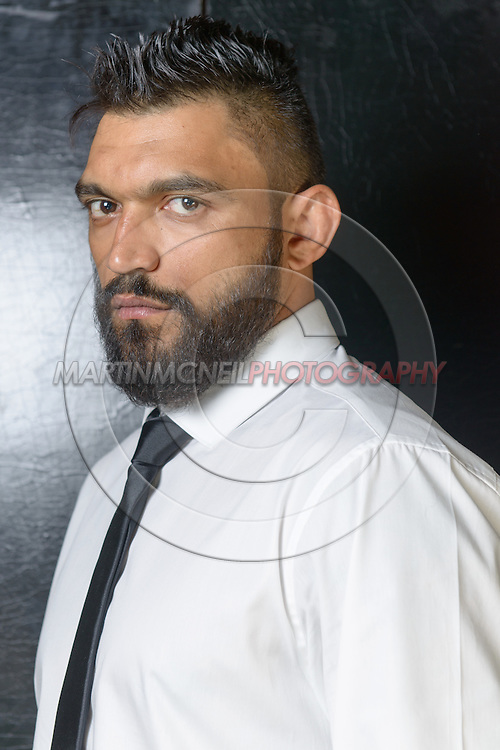 "LONDON, ENGLAND, APRIL 18, 2016: Liam McGeary poses for a portrait following the event announcement press conference for ""Bellator 158: Slice vs. Thompson"" inside the Four Seasons Hotel in Park Lane, London (© Martin McNeil)"