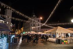 Grajski trg during the prizig praznicnih luck - The switch on the festive lights, on November 29, 2019 in Maribor, Slovenia. Photo by Milos Vujinovic / Sportida
