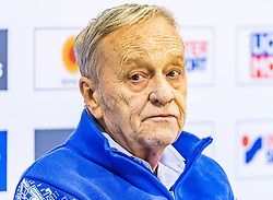 20.02.2019, Seefeld, AUT, FIS Weltmeisterschaften Ski Nordisch, Seefeld 2019, Pressekonferenz, im Bild Gian Franco Kasper (Präsident des Internationalen Skiverbandes FIS) // Gian Franco Kasper President of the International Ski Federation FIS during a press conference before the FIS Nordic Ski World Championships 2019. Seefeld, Austria on 2019/02/20. EXPA Pictures © 2019, PhotoCredit: EXPA/ Stefan Adelsberger