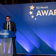Sam Oakley opening 5G Awards ceremony at Drapers' Hall, on 12 June 2019, London, UK.