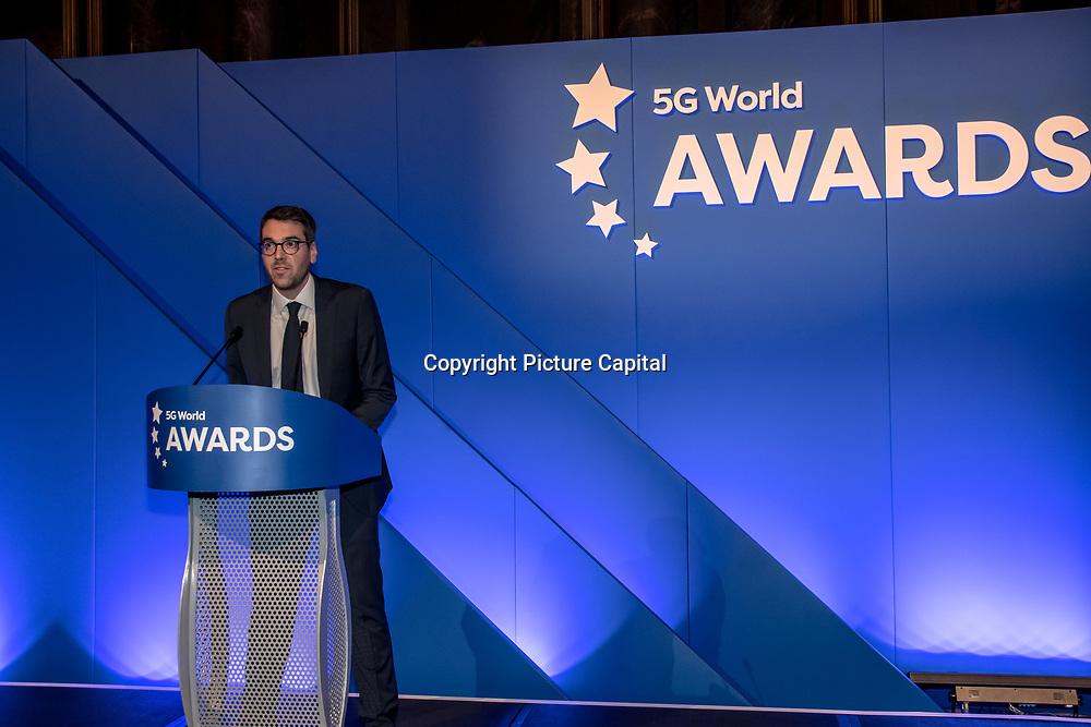Sam Oakley opening 5G Awards ceremony at Drapers' Hall, on 12 June 2019, London, UK.