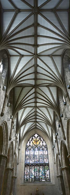 Vertical shot inside St Giles, Edinburgh