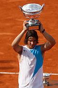 Roland Garros. Paris, France. June 10th 2007..Rafael NADAL won the men's final against Roger FEDERER.