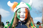 17/03/12016 Ava McHughfrom Kinvara Camoige club   at the the St. Patrick's Day Parade in Kinvara Co. Galway. Photo:Andrew Downes, xposure.