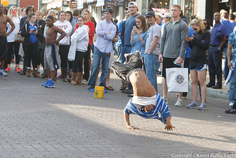 Street Scenes, Beale Street, Memphis, Tennessee. The Beale Street Flippers.