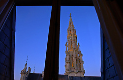 This view of the Brussels City Hall as seen from the bedroom of the Royal Suite at the Hotel Amigo, can be had for about $2,900 per night.