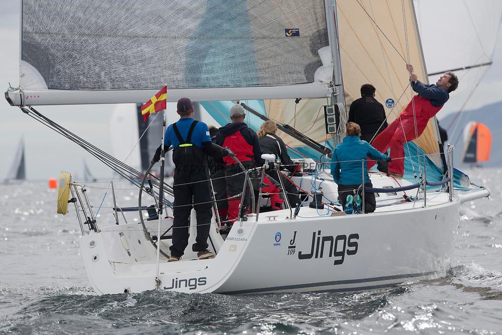 Silvers Marine Scottish Series 2017<br /> Tarbert Loch Fyne - Sailing Day 3<br /> GBR8543R, Jings, Robin Young, CCC, J109