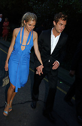 JUDE LAW and SIENNA MILLER at Sir David & Lady Carina Frost's annual summer party held in Carlyle Square, London on 6th July 2004.