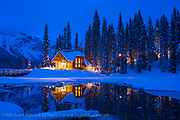 Emerald Lake at nightfall, Yoho National Park, British Columbia, Canada