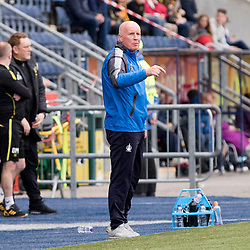 A rather pensive and subdued looking Peter Houston ( falkirk manager ) as his side crashed to yet another defeat. Falkirk v Livingston, Ladbrokes Championship, 23rd September 2017. (c) Paul Cram | SportPix