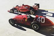 September 3-5, 2015 - Italian Grand Prix at Monza: Fangio's 166 F2 and the 2015 Ferrari SF15-T F1 cars