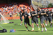 Nadir Ciftci , David Goodwillie and Shaun Dillon lead United training - Dundee United open day at Tannadice<br /> <br />  - Pictures © David Young