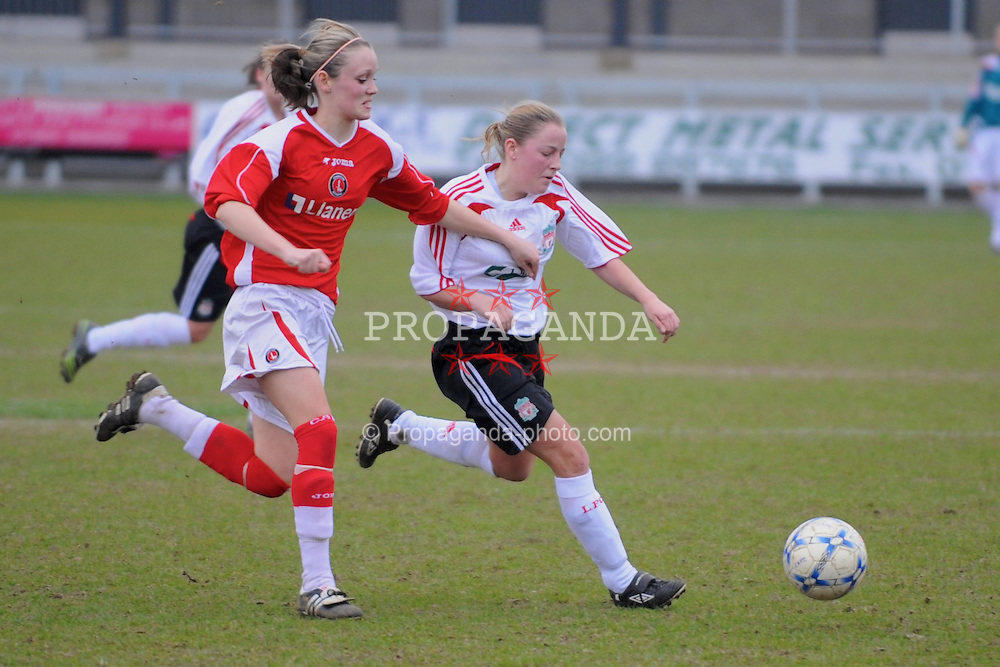 DARTFORD, ENGLAND - Sunday, February 24, 2008: Liverpool Ladies' xxxx in action against Charlton Athletic Ladies during the Women's Premier League match at Princes Park. (Pic by Barry Goodwin/Propaganda)