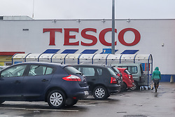 January 30, 2018 - Gdansk, Poland - Tesco shopping centre is seen in Gdynia, Poland on 30 January 2018 President Andrzej Duda signed into law the shopping ban in Poland on Sundays. New law backed by labor unions and the Catholic church, force retail businesses to close for two Sundays a month, from March 2018 and for all Sundays but a few exceptions in 2020. (Credit Image: © Michal Fludra/NurPhoto via ZUMA Press)