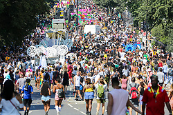 © Licensed to London News Pictures. 26/08/2019. London, UK. Over a million people attend the 2019 Notting Hill Carnival, Europe's largest street party and a celebration of Caribbean traditions and the capital's cultural diversity. Photo credit: Dinendra Haria/LNP