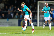 Forest Green Rovers Dayle Grubb(8) passes the ball during the 2nd round of the Carabao EFL Cup match between Wycombe Wanderers and Forest Green Rovers at Adams Park, High Wycombe, England on 28 August 2018.