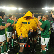 The Australian team leave the field after their loss during the Australia V Ireland Pool C match during the IRB Rugby World Cup tournament. Eden Park, Auckland, New Zealand, 17th September 2011. Photo Tim Clayton...