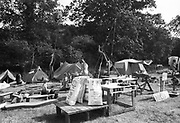 Oundle Ground camp site, Glastonbury, Somerset, 1989