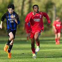Action from the U13 Boys Plate Final between Bridge United and Lifford FC