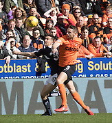Dundee&rsquo;s Cammy Kerr and Dundee United's Callum Morris - Dundee United v Dundee in the Ladbrokes Premiership at Tannadice<br /> <br />  - &copy; David Young - www.davidyoungphoto.co.uk - email: davidyoungphoto@gmail.com