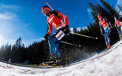 GARANICHEV Evgeniy (RUS) competes during Men 12,5 km Pursuit at day 3 of IBU Biathlon World Cup 2014/2015 Pokljuka, on December 20, 2014 in Rudno polje, Pokljuka, Slovenia. Photo by Vid Ponikvar / Sportida