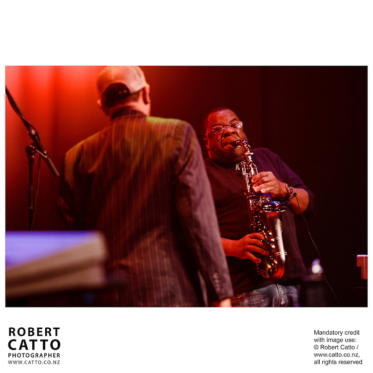 The Wellington Jazz Festival takes place in the Pacific Blue Note Jazz Club, a purpose built venue within Wellington's Town Hall.  The second night featured performances by Otis Taylor, Roy Ayers and Cristian Cuturrufo.