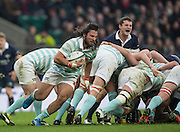 Twickenham, United Kingdom. Cambridge No. 8. Daniel DASS, break's away from the back of the scrum, during the  Men's Varsity Rugby, [Oxford vs Cambridge],Twickenham. UK, at the RFU Stadium, Twickenham, England, <br /> <br /> Thursday  08/12/2016<br /> <br /> [Mandatory Credit; Peter Spurrier/Intersport-images]