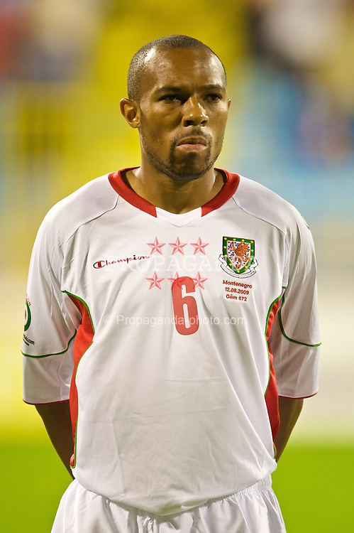 PODGORICA, MONTENEGRO - Wednesday, August 12, 2009: Wales' Daniel Gabbidon lines-up before an international friendly match against Montenegro at the Gradski Stadion. (Photo by David Rawcliffe/Propaganda)