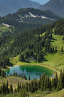 Image Lake seen from Miner's Ridge, Glacier Peak Wilderness North Cascadses Washington
