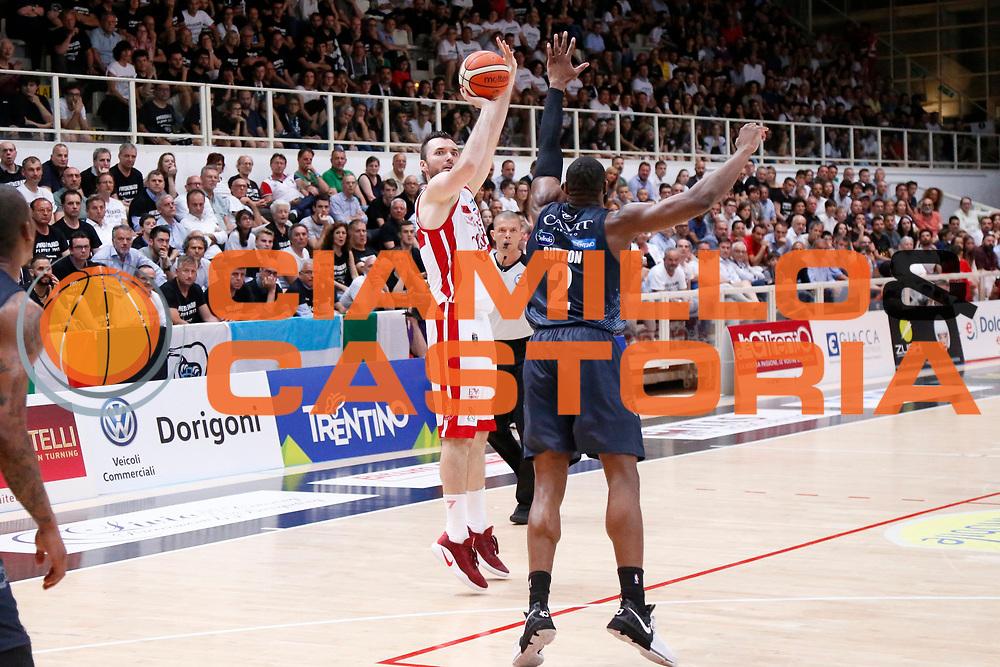 Milan Macvan<br /> Dolomiti Energia Aquila Basket Trento - EA7 Emporio Armani Olimpia Milano<br /> Semifinale Gara 4, Lega Basket Serie A 2016/2017<br /> PalaTrento 31/05/2017<br /> Foto Ciamillo-Castoria / M.Brondi