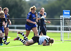 Noami Keddie of Bristol Bears Women scores a try - Mandatory by-line: Paul Knight/JMP - 02/09/2018 - RUGBY - Shaftsbury Park - Bristol, England - Bristol Bears Women v Dragons Women - Pre-season friendly