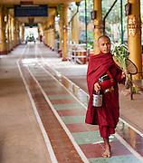 Buddhist Monk at Kha Khat Wain Kyaung Monastery (Bago, Myanmar)