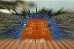 MONTE-CARLO, MONACO - Sunday, April 20, 2003: Centre Court at the Monte-Carlo Country Club as Juan Carlos Ferrero (Spain) defeats Guillermo Coria (Argentina) 6-2, 6-2 in the final of the Tennis Masters Monte-Carlo. (Pic by David Rawcliffe/Propaganda)