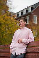 Ryan C portrait session at Belknap Mill.  ©2016 Karen Bobotas Photographer