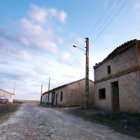 Empty street at Otero de Sariegos