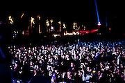 Fans attend the 2010 Coachella Music Festival in Indio, CA, on Friday, April 16, 2010.
