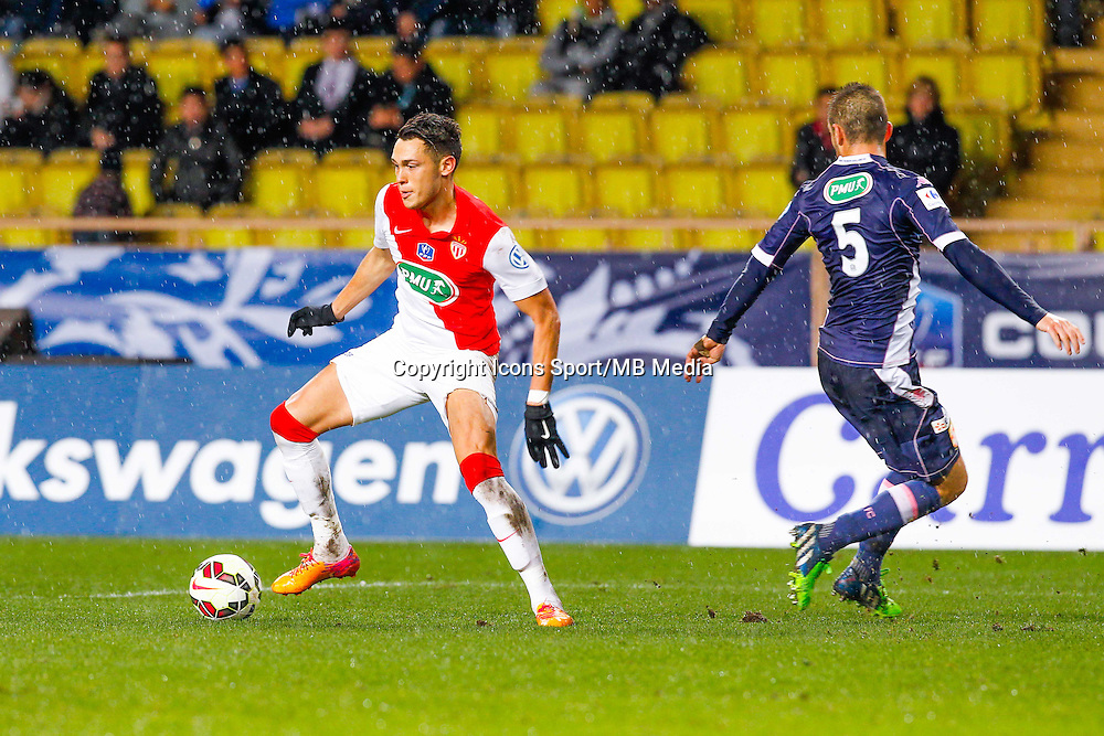 Lucas Ocampos  - 21.01.2015 - Monaco / Evian Thonon   - Coupe de France 2014/2015<br /> Photo : Sebastien Nogier / Icon Sport