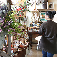 Kacy Dixon walks through the Farm House, shopping to support Small Business Saturiday