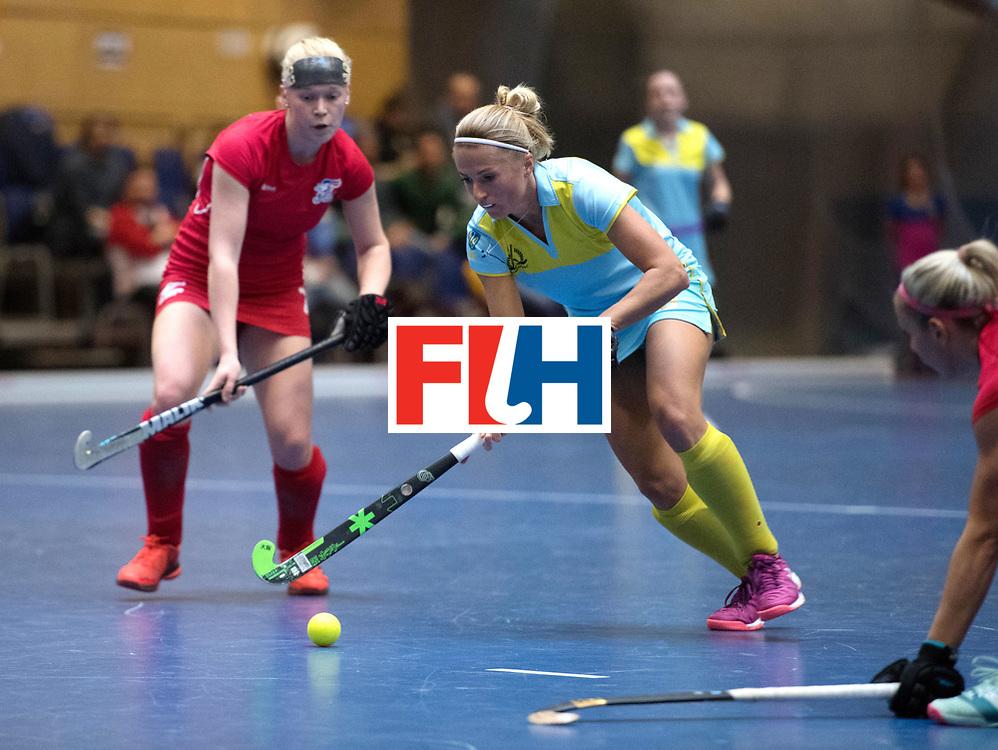 BERLIN - Indoor Hockey World Cup<br /> Women: Ukraine - Czech Republic<br /> foto: KHILKO Maryna.<br /> WORLDSPORTPICS COPYRIGHT FRANK UIJLENBROEK