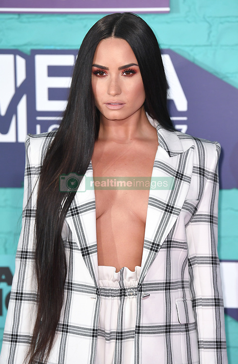 Demi Lovato arriving at the MTV Europe Music Awards 2017 held at The SSE Arena, London. Photo credit should read: Doug Peters/EMPICS Entertainment
