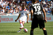 Tousart lucas of Lyon and El Hajjam Oualid of Amiens during the French championship L1 football match between Olympique Lyonnais and Amiens on August 12th, 2018 at Groupama stadium in Decines Charpieu near Lyon, France - Photo Romain Biard / Isports / ProSportsImages / DPPI