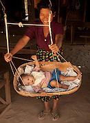 West Phwa saw, agricultural village in central Burma, near Bagan